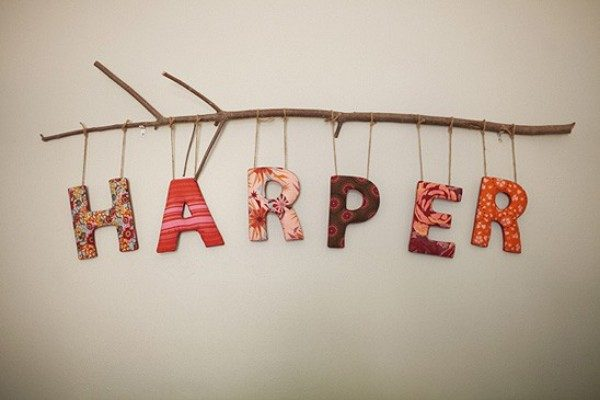 No nursery is complete without a name on the wall!