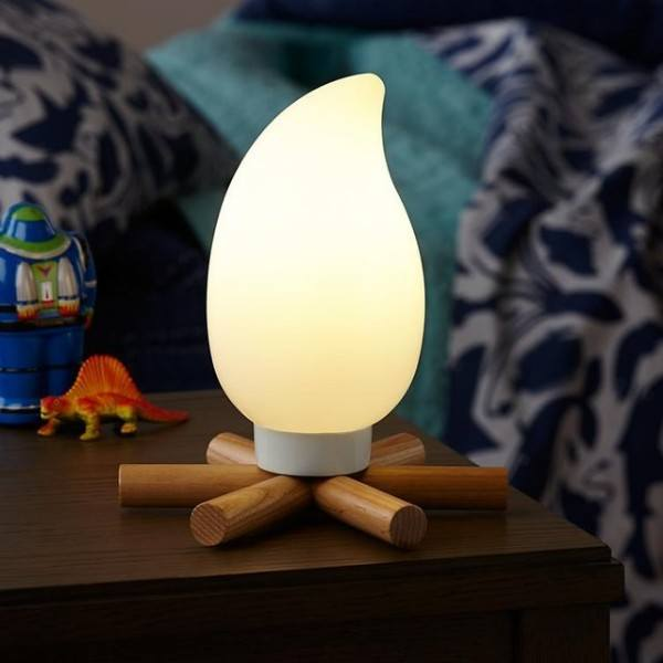 Scare away those nightmares with this adorable campfire night light.