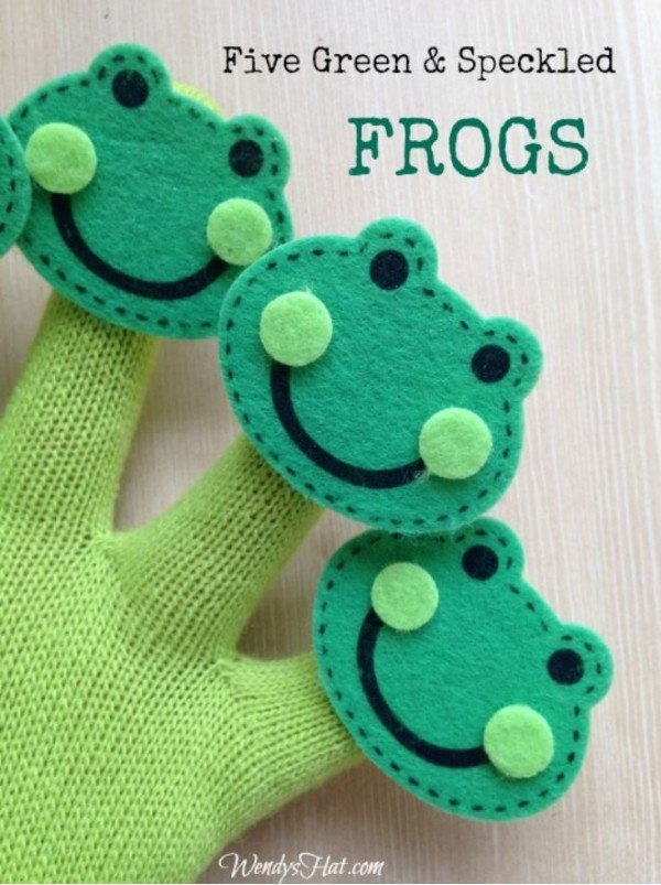 "Turn any song into a fingerplay with this easy and inexpensive tutorial. Also includes the words to the preschool favorite ""Five Little Frogs."""