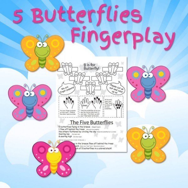 Combine arts and crafts with a fingerplay with this cute story about butterflies.