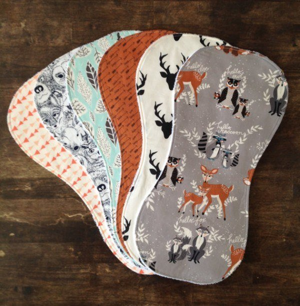 If you're rocking your baby in their woodland nursery, you NEED matching burp cloths.