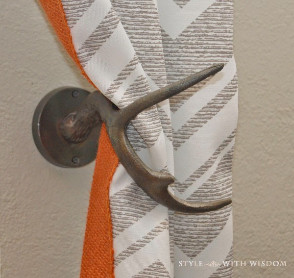 The smallest of details make the biggest of statements. Instead of traditional curtain tie backs, try these.