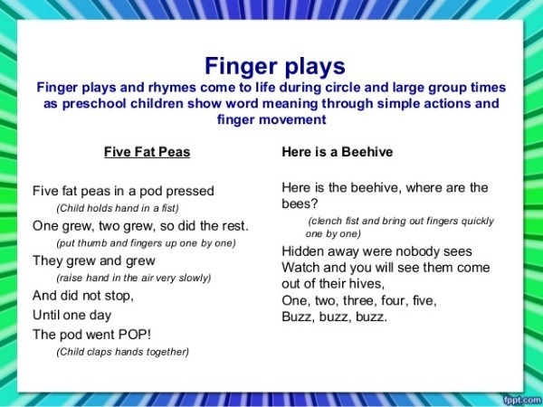 Clear instructions make fingerplays so much easier.