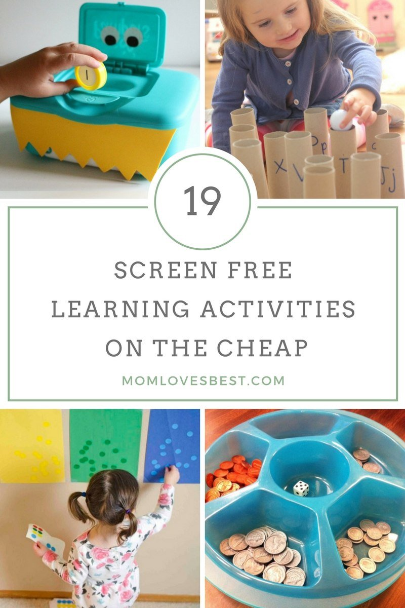 Feel guilty when the kids are staring at screens but you've run out of easy game ideas? Here are 19 fun, simple and inexpensive activities - no electronics required!