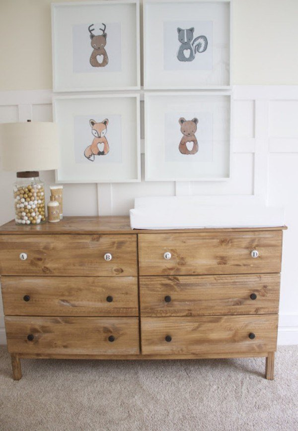 Print your own woodland characters for super sweet wall décor.