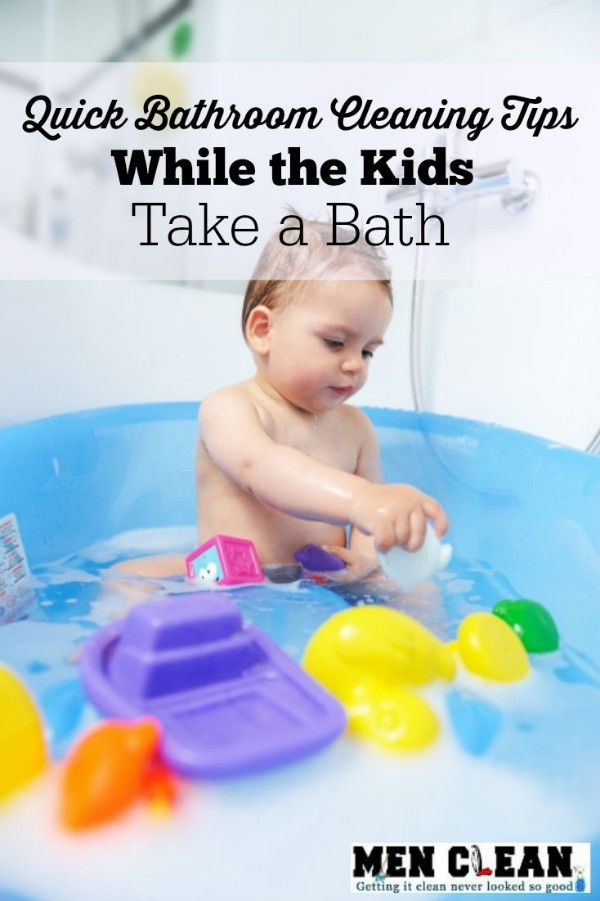 Struggling to fit it all in? Multitask and clean your bathroom while you're supervising the kids in the bathtub.