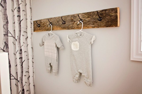 Turn a simple piece of scrap wood into an oh-so-practical clothes hanger.