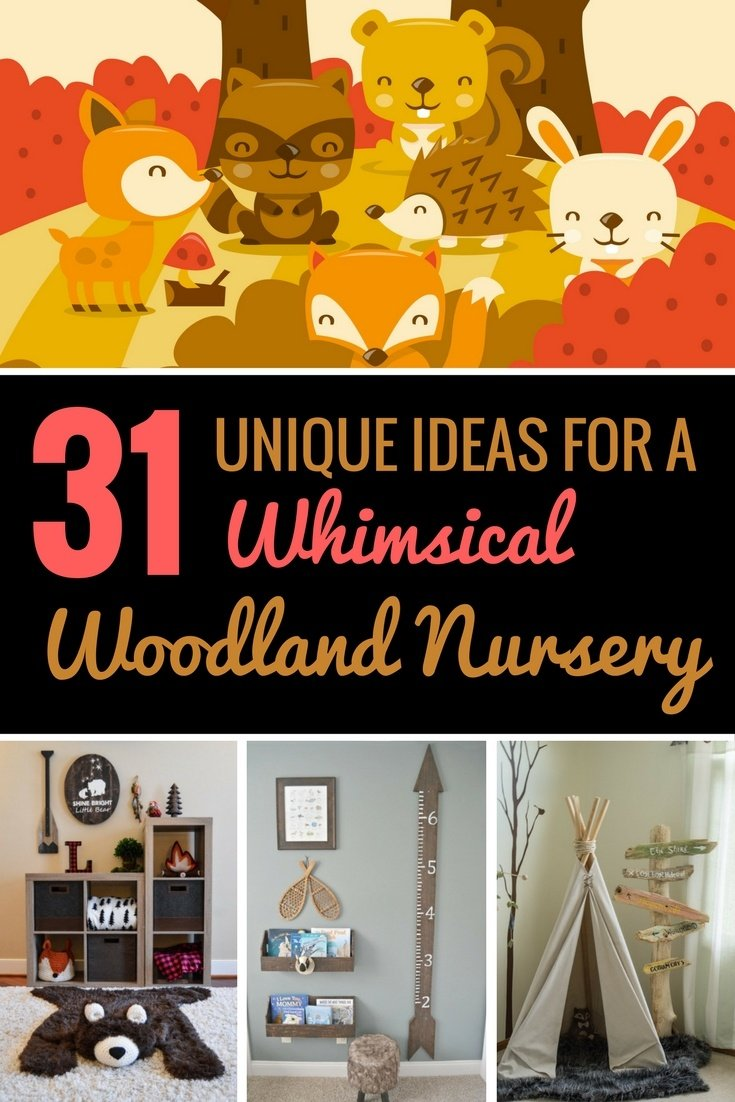 Looking for the perfect nursery theme? Consider choosing a woodland motif. It's rustic, gender neutral, and – most importantly – absolutely adorable. Here are 31 ideas to help you put together the perfect nursery for your little one.