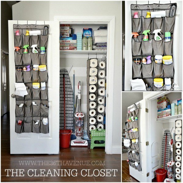 How can you expect to keep things clean and organized unless you start by organizing your cleaning supplies?