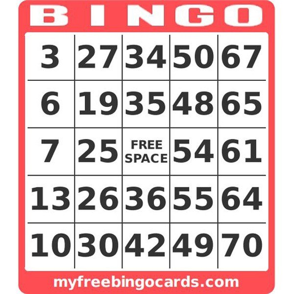 Learn numbers 1-75 with free printable Bingo cards