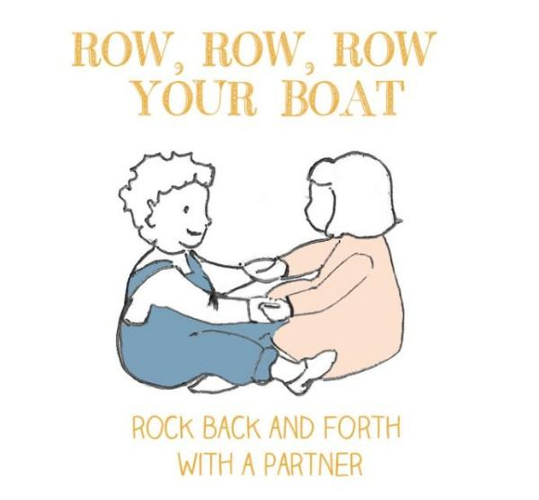 "Turn ""Row, Row, Row Your Boat"" into an active song with a partner - appropriate for even the youngest toddler."