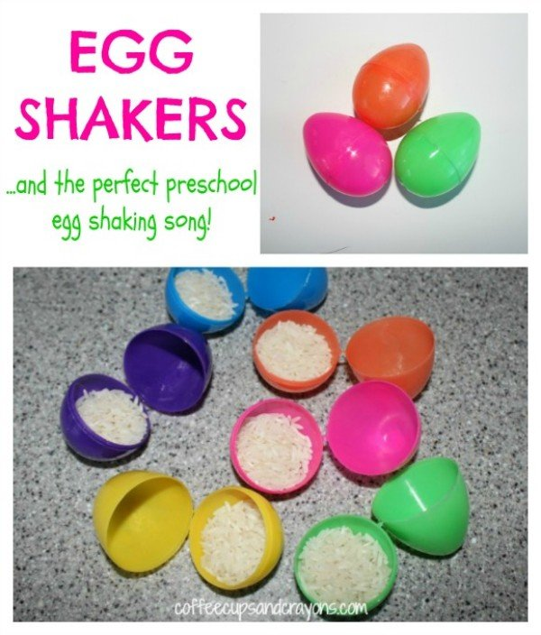 Turn Easter eggs into egg shakers for the littles