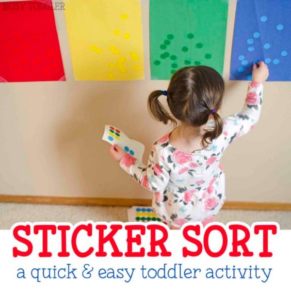 Keep 'em busy for hours helping Mommy sort these stickers