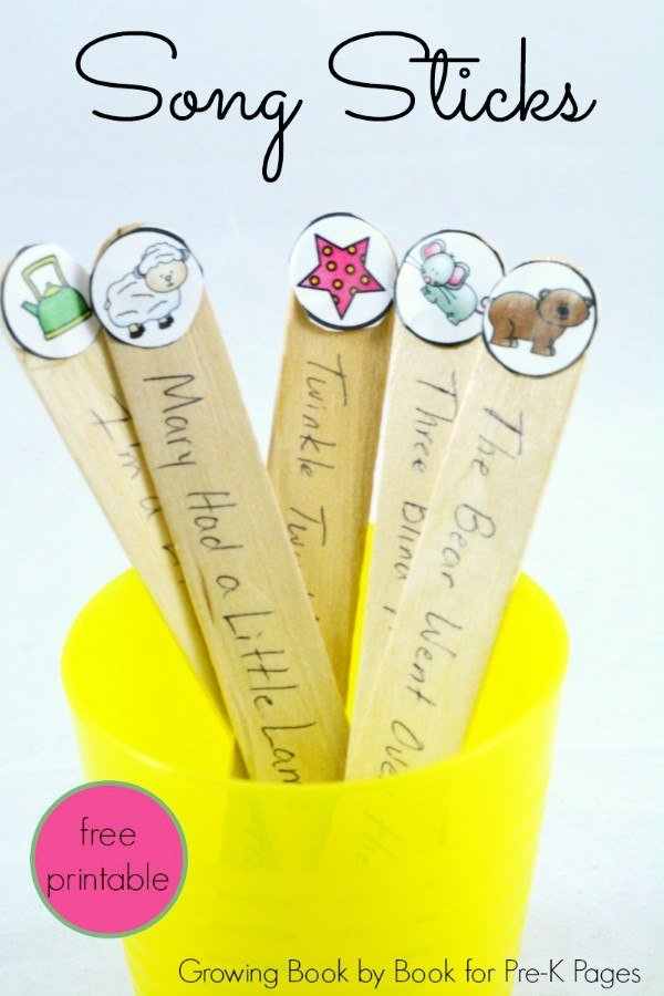 Tired of your little one asking to sing the same song over & over? Song sticks to the rescue!