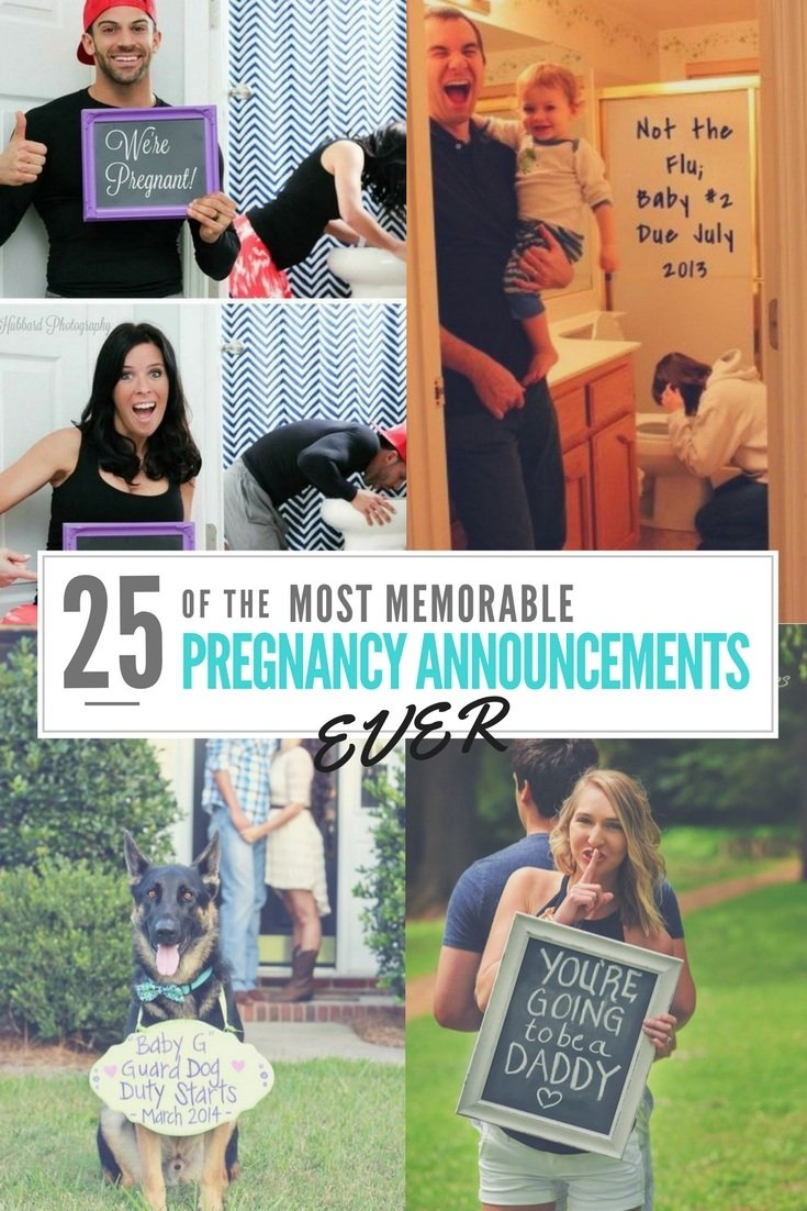 25 of the Most Memorable Pregnancy Announcement Ideas Ever – Ideas to Announce Baby