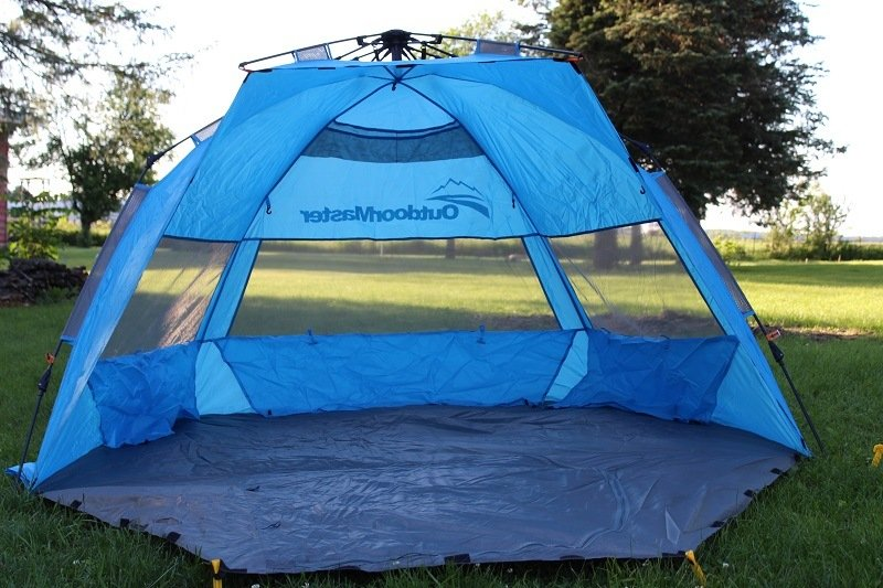 OutdoorMaster Baby Beach Tent Front Angle & The 6 Best Baby Beach Tents for Ultimate Protection (2018 Reviews)