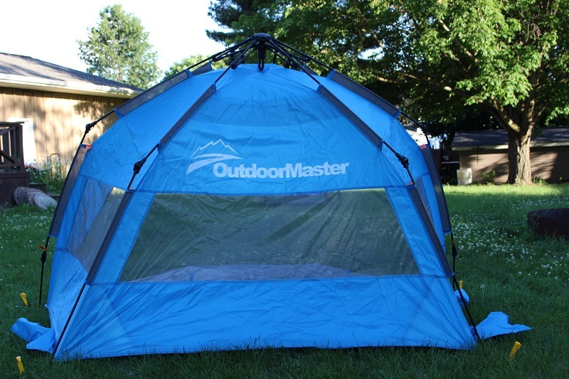 OutdoorMaster Baby Beach Tent From Behind & The 6 Best Baby Beach Tents for Ultimate Protection (2018 Reviews)