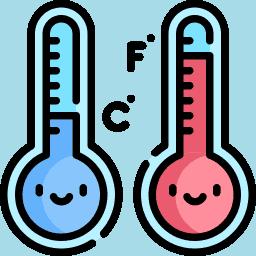 Fahrenheit or Celsius Icon
