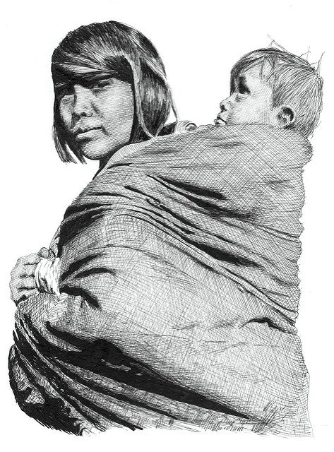 Babywearing Native American