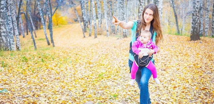 Babywearing while hiking