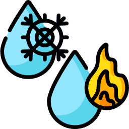 Cool Mist or Hot Steam Icon