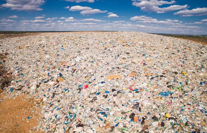 Landfill waste from disposable diapers