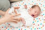 Newborn baby arching their back