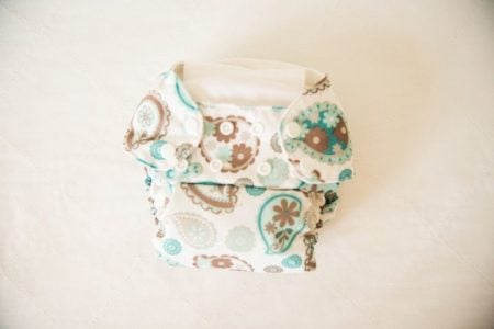 A washed cloth diaper