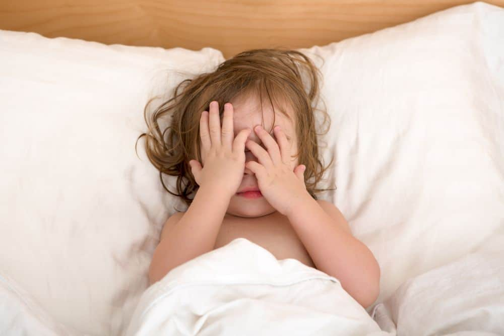 Toddler in bed scared after a night terror