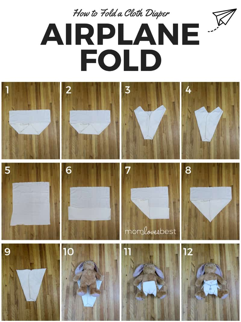 Airplane Fold - How to Fold Cloth Diapers