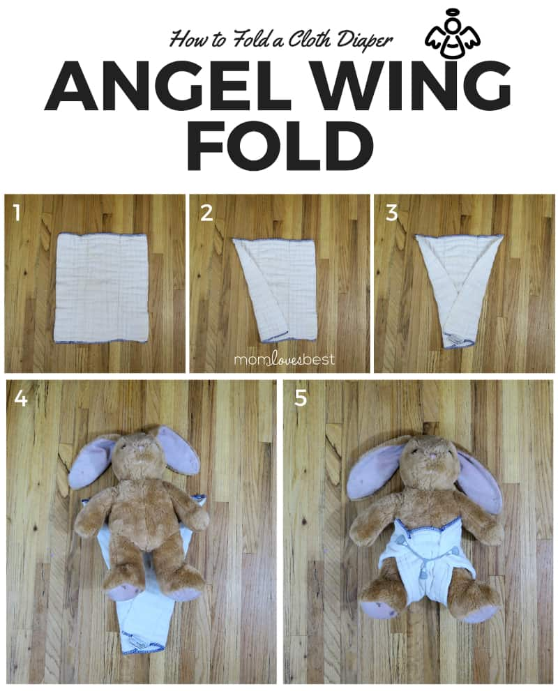 Angel Wing Fold - Cloth Diaper Fold