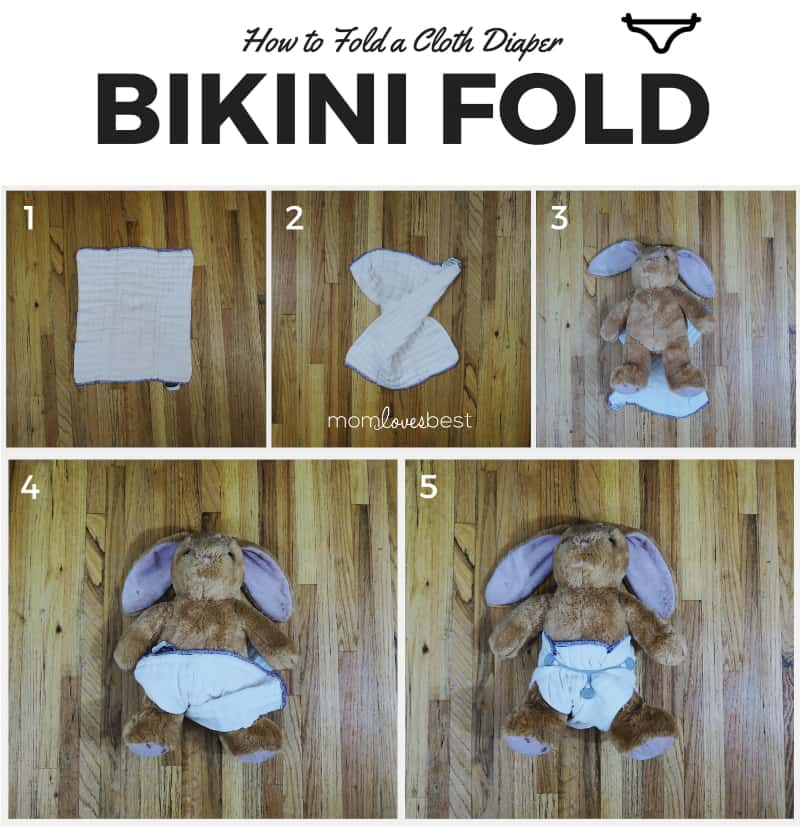 Bikini Fold - Cloth Diaper Fold