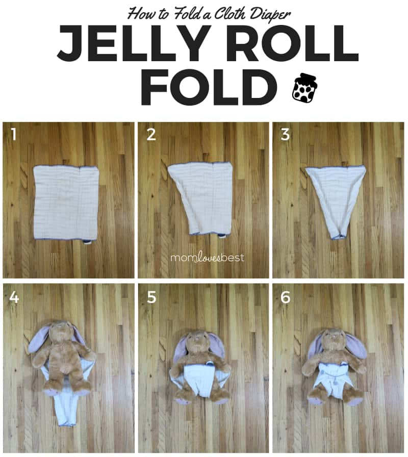 Jelly Roll Fold - Cloth Diaper Fold