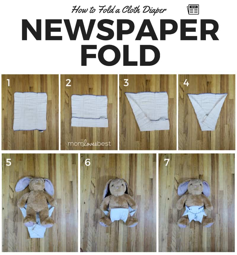 Newspaper Fold - Cloth Diaper Fold