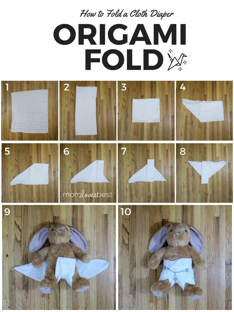 Origami Fold - Folding Cloth Diapers
