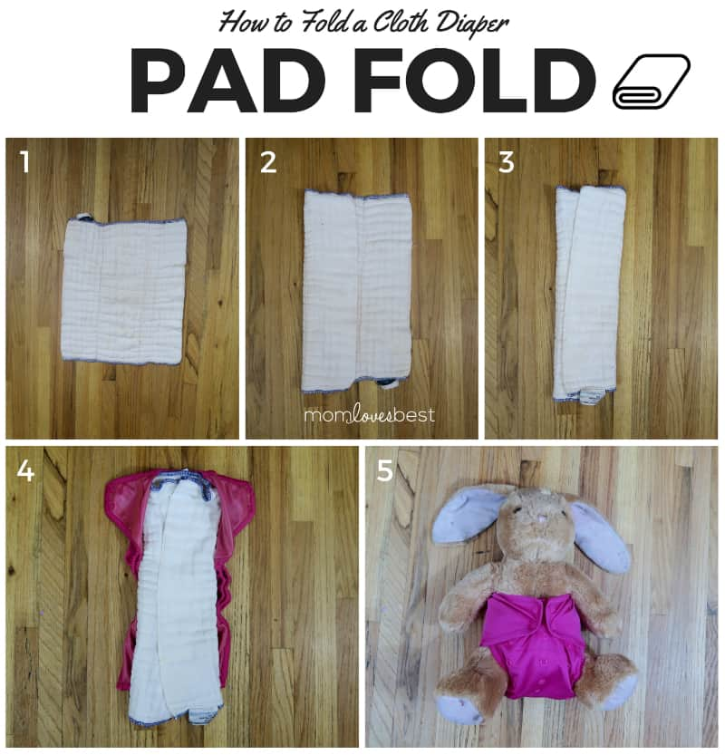 Pad Fold - Cloth Diaper Fold