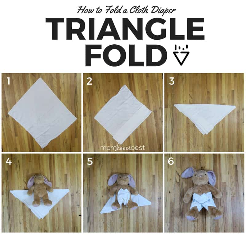 Triangle Fold - How to Fold Cloth Diapers