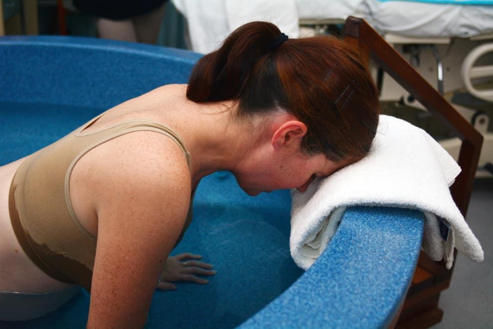 Woman Having Natural Birth