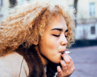 Pregnant woman smoking weed