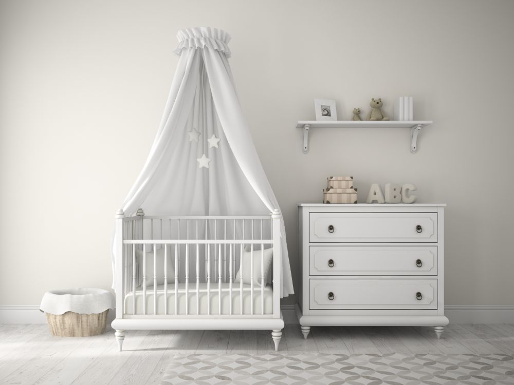 Baby Nurseries 2019 Photo of a baby nursery with a laundry hamper