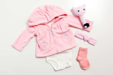 Set of newborn clothes