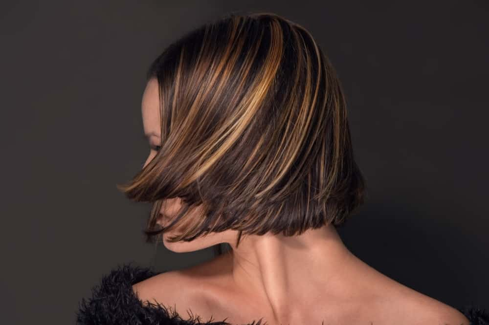 Highlights in woman's hair