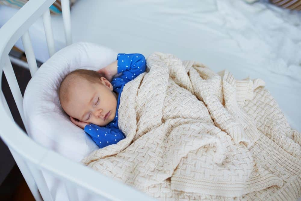 Baby sleeping in a co-sleeper
