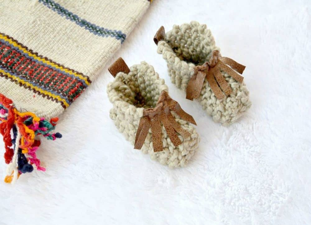 Product Image of the Knitted Moccasin Booties