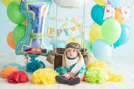 Boy's first birthday party