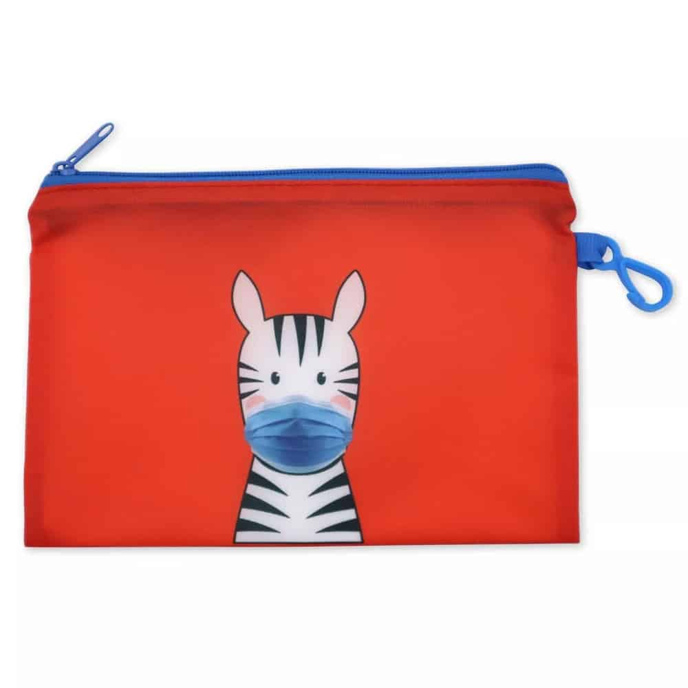 Product Image of the ICU Health Kids' Mask with Zebra Pouch