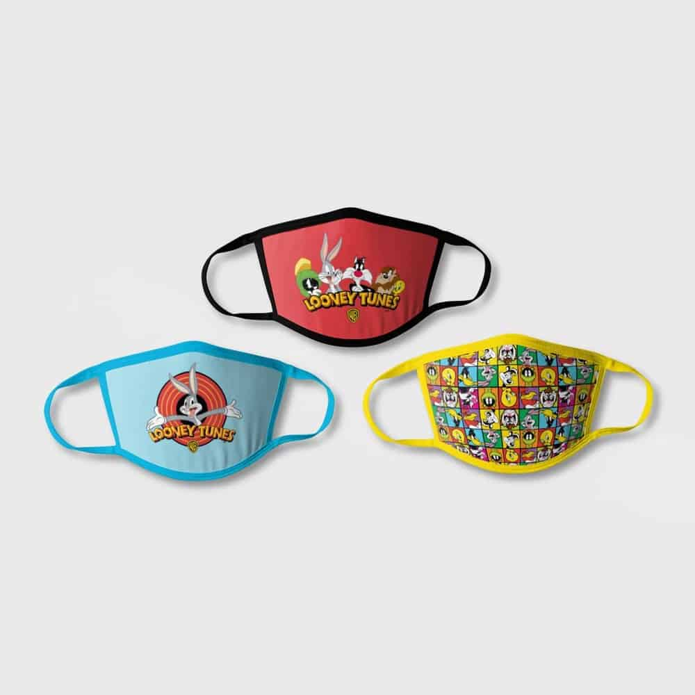 Product Image of the Kids' 3-Pack Loony Tunes Face Mask