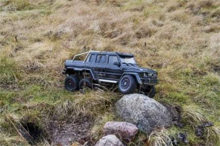 An RC rock crawler