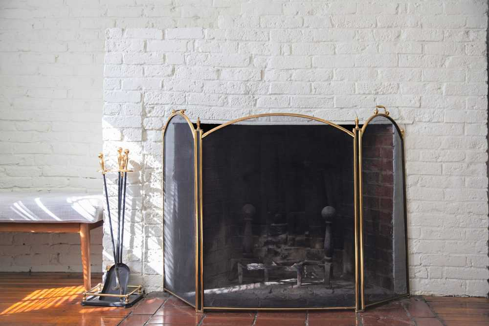 Fireplace with screen guard