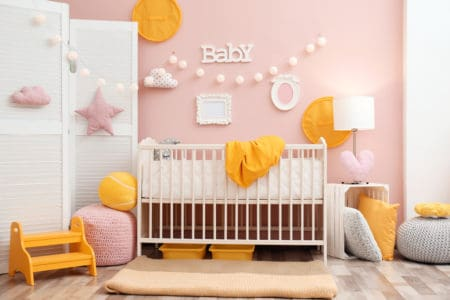 Beautiful interior of baby nursery